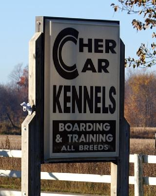 Cher Car Kennels sign
