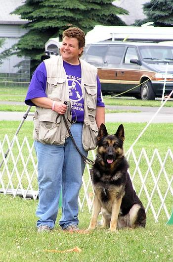 "German Shepherd PD1 GRCH ""Hazard"", the only UKC Grand Champion Police Dog!"