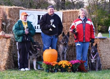 � and taking FIRST PLACE in the Advanced Division of the Michigan K-9 Challenge Protection Dog Tournament the following week!  (With another bred by dog, Dutch Shepherd �Becker�.)