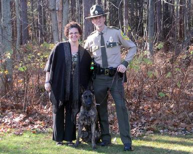 Officer David Roos, Vermont State Police & K9 Tori