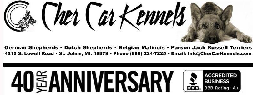 Cher Car Kennels - Breeding & Training Dogs for Lives of Significance & Service™ since 1977