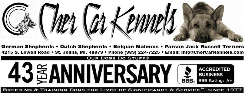 Cher Car Kennels - Breeding & Training Dogs for Lives of Significance & Service� since 1977 (Our Dogs Do Stuff®)